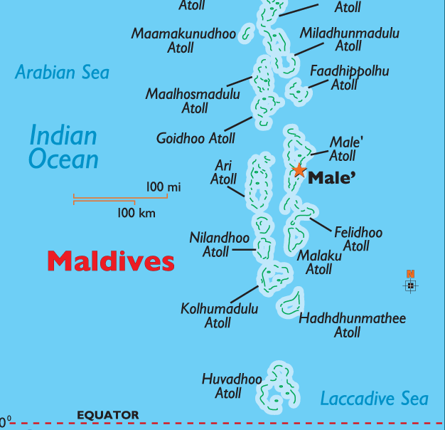 Click Here For Maldives Map